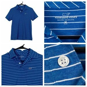 ExcCond Vineyard Vines Blue & White Striped Polo